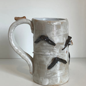Large Birch Pottery Mug