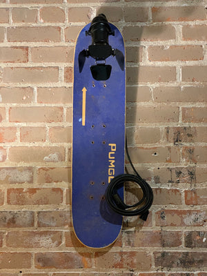 Repurposed Blue Skateboard Light
