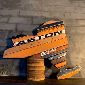 "Custom State of New York Hockey with Salvaged Hockey Sticks and Rustic Barn Wood - 18"" x 22"""