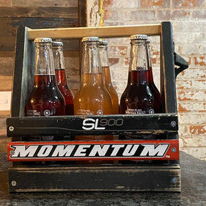 Custom Hockey 6-Pack Beer Carrier - Salvaged Hockey Sticks +  Laser Personalization + 6 Bottle or Can Holder + Bottle Opener