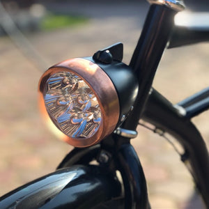 retro bike riding supplies battery LED lights / LED bike headlight / bicycle light copper / front headlights