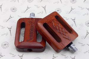 Bicycle pedal Vintage bike pedal Wood pedal Bicycle pedal accessories