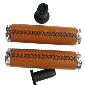 Classic Bike Grips/retro retro leather handlebars Grips bicycle handle grip