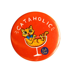 Cataholic Magnet + Badge