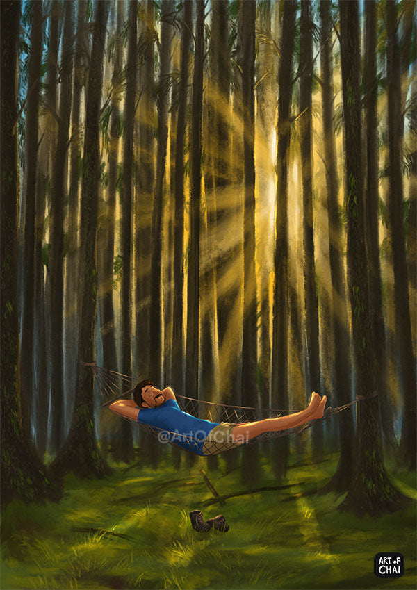 Floating In the Woods- Art Print