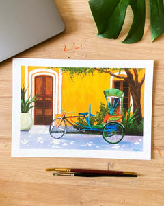 Pondicherry Street - Art Print