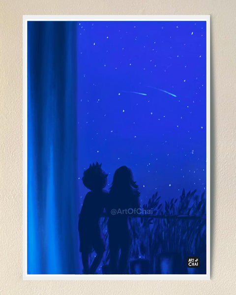Late night chats - Art Print