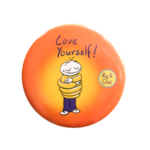 Love Yourself Magnet + Badge