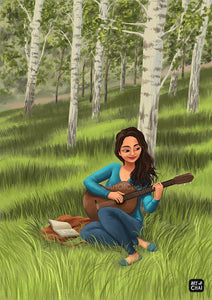 Melody in the Woods - Art Print