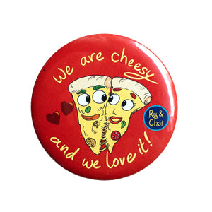 We are cheesy Magnet+Badge