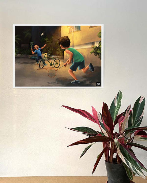 Gully Badminton - Art Print