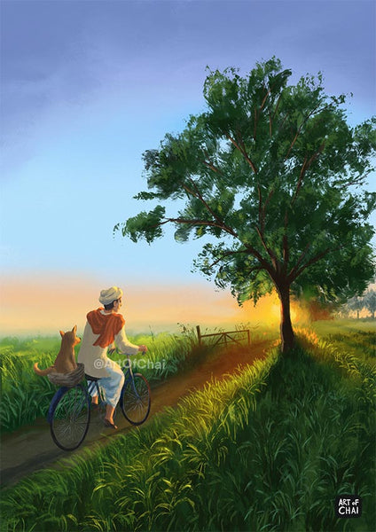 Countryside mornings - Art Print