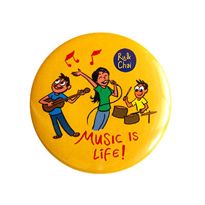 Music is life Magnet + Badge
