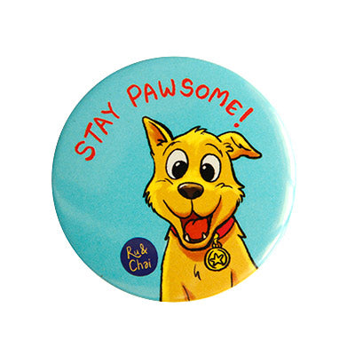 Pawsome Magnet + Badge
