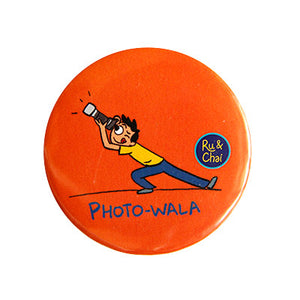 PhotoWala Magnet + Badge