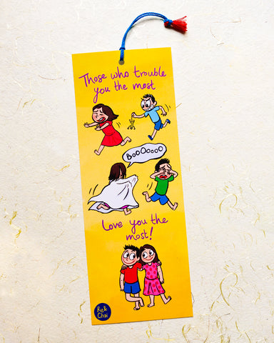 Brother sister love-hate Bookmark (set of two)