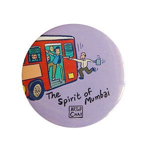 Spirit of Mumbai Magnet + Badge