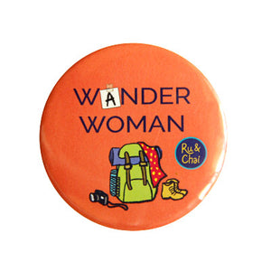 Wander Woman Magnet + Badge