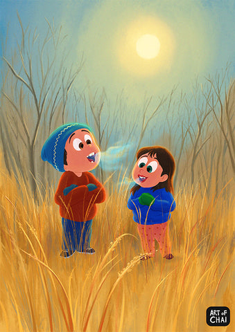 Those Winters! - Art Print