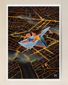 Over the city - Art Print
