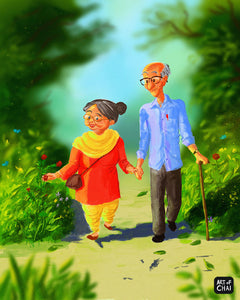 Lets grow old together - Art Print