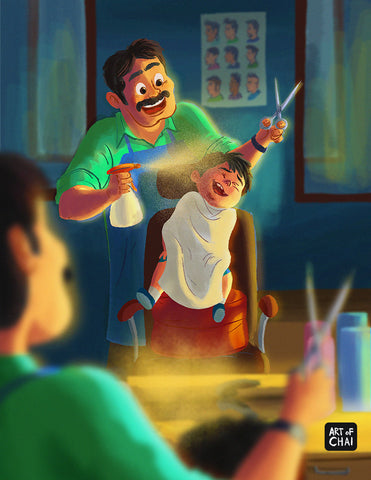 Haircut - Art Print