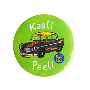 Kaali Peeli Magnet + Badge