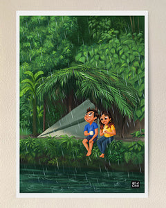 Rain and chai - Art Print