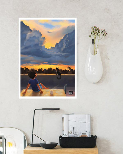 Spectacular Evening - Art Print