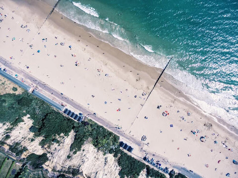 Bournemouth Beach Aerial view