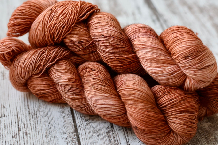 Toasted Peach- Single Ply Fingering