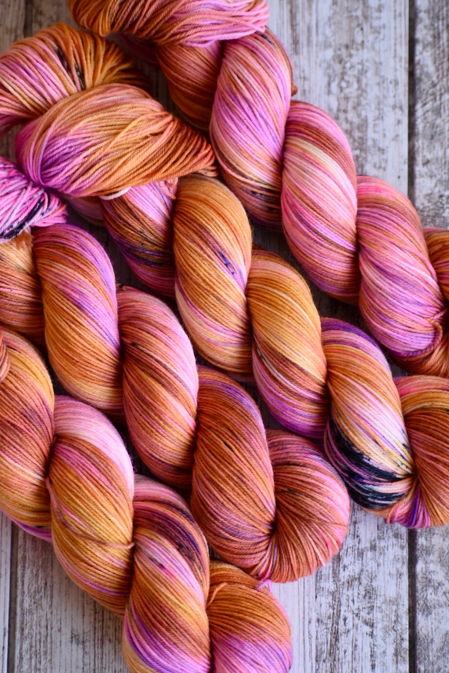 Fire Heart- Merino/Nylon 4 Ply Sock