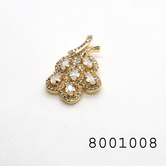 Diamond CZ Studded Designer Fashion CZ Jewellery Pendant - FlipJewels