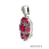 Pink and White CZ Multistone Designer Fashion CZ Jewellery Pendant - FlipJewels