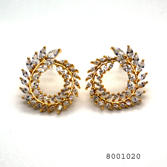 CZ Diamond Studded Designer Fashion Earring - FlipJewels