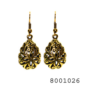Ethnic Yellow Gold Colour Designer Filigree Fashion Earring - FlipJewels