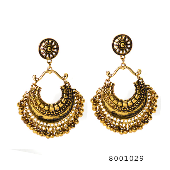 Ethnic Chand Bali Traditional Dangling Earrings - FlipJewels