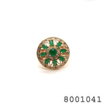 Emerald Colour CZ studded Designer Fashion CZ Jewellery Ring - FlipJewels