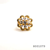 Diamond CZ Studded Brilliant Designer Fashion Ring - FlipJewels