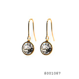 Diamonds CZ Swarovski Crystals 18K Yellow Gold Colour Designer Earrings - FlipJewels