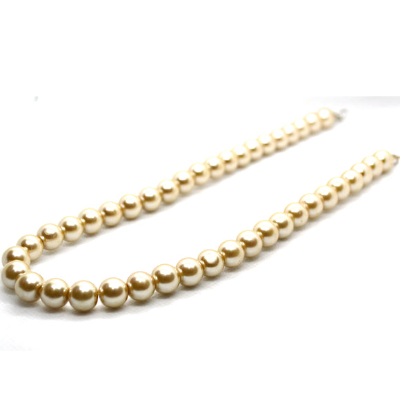 Golden Pearl Sim Fashion Necklace - FlipJewels