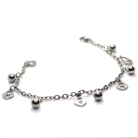 Silver Colour Multi Charm bracelet for Women - FlipJewels