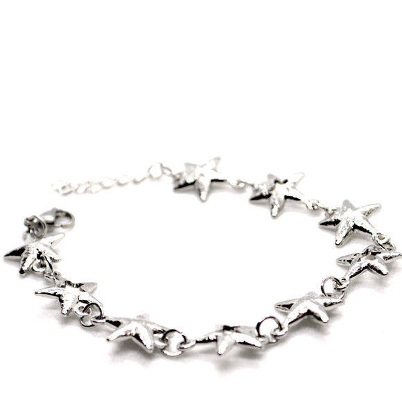 Silver color Star line bracelet - FlipJewels