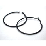 Smokey colour classic big hoop earrings - FlipJewels