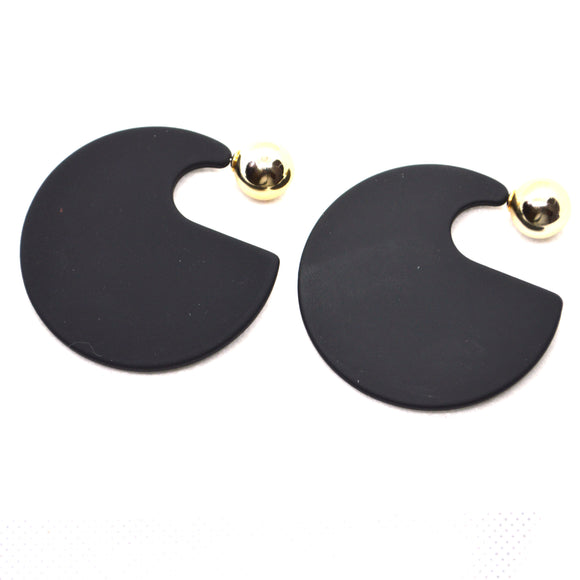 Contemporary Designer Earrings with 22K Gold Colour Studs - FlipJewels