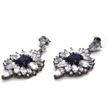 Flower theme inspired Designer white and colour CZ Earrings - FlipJewels