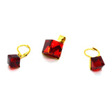 Cube Shape Designer Set of Earring and Pendant - FlipJewels