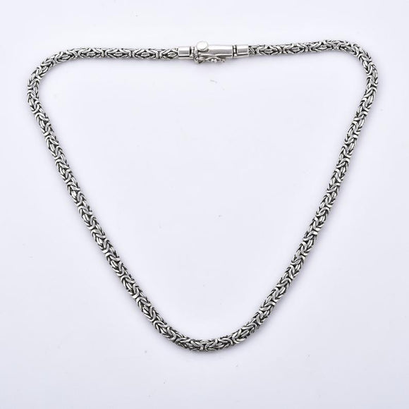 Divine Bali Collection Byzantine Borbudar Designer 925 Sterling Silver Handcrafted Heavy necklace