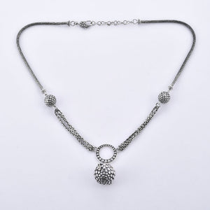 Plain 925 Sterling Silver Handcrafted Necklace