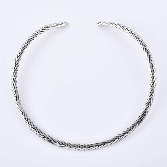 Peddy Chain 925 Sterling Silver Handcrafted Chocker Necklace